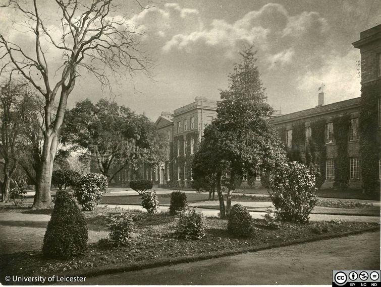 Photograph of the Fielding Johnson Building in the 1920s. ULA/FG1/3/78 from University of Leicester Archives and Special Collections.