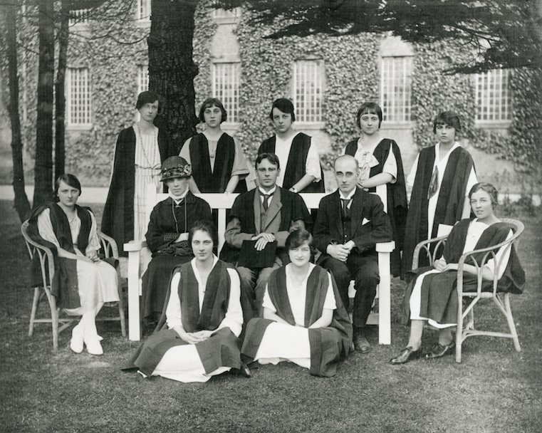 Black and white photograph of some of the first students and staff, taken in 1922, (ULA/FG5/1/1).
