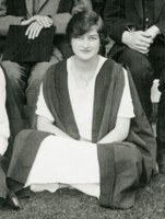 Cropped photograph of Dorothy Gilbert from first class photograph