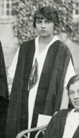 Cropped photograph of Gweneth Smalley from first class photograph