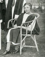 Cropped photograph of Nellie Bonsor from first class photograph