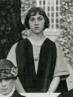 Cropped photograph of Winifred Bates from first class photograph