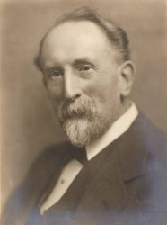 Black and white photograph of Dr F W Bennett from the University Memorial Portraits Book, c.1921-31.