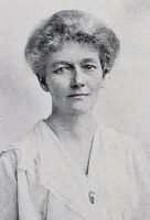 Black and white photograph of Mrs Astley Clarke, c.1922 from the programme for the Grand Bazaar and Fete, 1922.