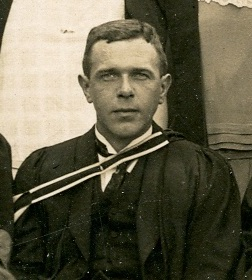 Black and white photograph of F W Buckler, from the class photograph of 1925 (ULA/FG5/1/3)