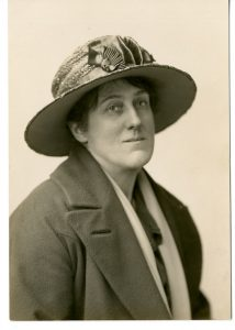 Photograph of Miss Vincent, taken in 1922 for the programme of the Grand Bazaar and Fete that she helped to organise. ULA/FG9/1/3.