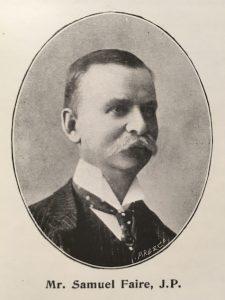 Photograph of Samuel Faire, captioned Mr Samuel Faire, JP.