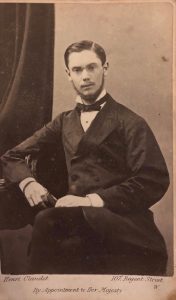 Photograph of Joseph Wallis Goddard as a young man, reproduced by kind permission of Michael Goddard