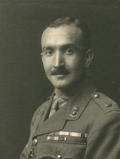 Black and white photograph of John Gilbert Henderson, reproduced by kind permission of Mrs Philippa Henwood.