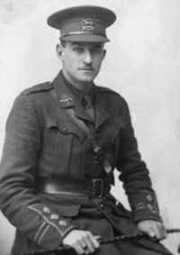 Black and white photograph of Captain Reginald Faire in military uniform.