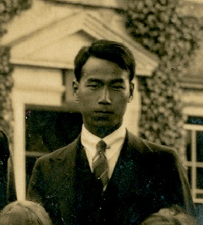 Photograph of one of our first international students, thought to be either Aigi Tajiri or Tamotsu Shishikura, from the Class photo for 1923-24 (University of Leicester Archives, ULA/FG5/1/2)