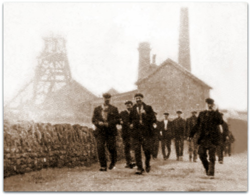 Black and white photograph of Bulwell Shonky Pit