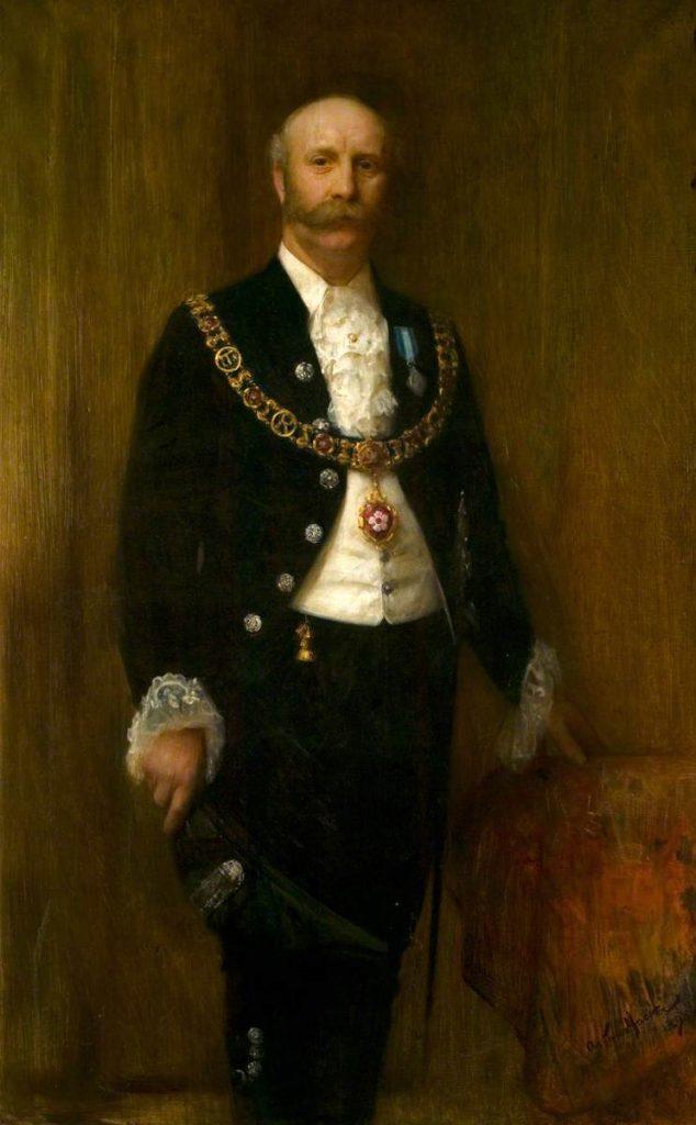 Portrait of Sir Herbert Marshall (1851–1918), Mayor of Leicester (1896–1897), by Arthur Hacker. Source: Art UK (CC BY-NC-SA)